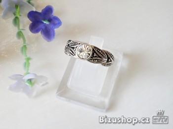 Prsten s krystal kamenem 5696