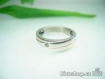 Chirurgická ocel Snubní prsten Zirkon Chantal 1582617
