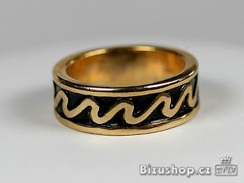 Zyta Prsten v povrch úpravě zlato 6626