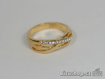 Prsten - Bílý štras - 6945