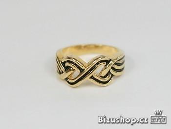 Prsten ornament černý 6948