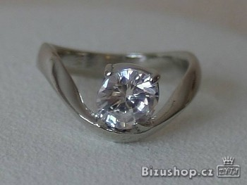 Prsten bílý Zirkon 7818