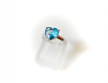 Prsten modré Srdce 3220117