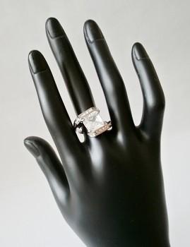 Prsten bílý zirkon 32204