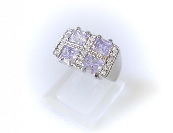 Prsten fialový Zirkon 32205