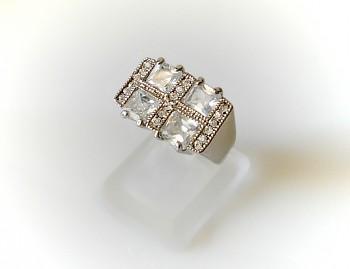 Zyta Prsten  bílé zirkon kameny 3220618