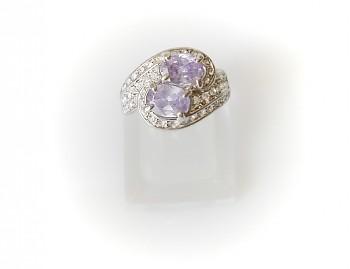 Prsten zirkon fialový 32208