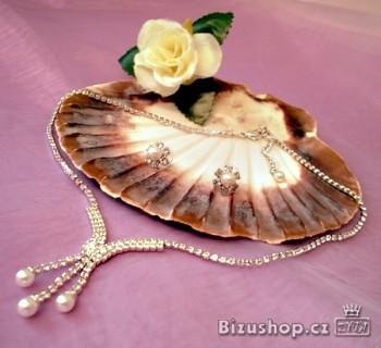 Souprava perlová štrasová 31780 Jablonecká bižuterie