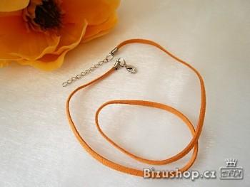 Šňůrka kůže oranžová 20000
