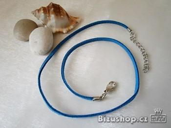 Šňůrka kůže modrá 20001