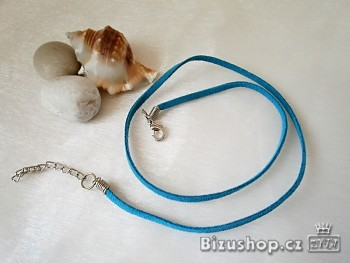 Šňůrka kůže modrá 20003