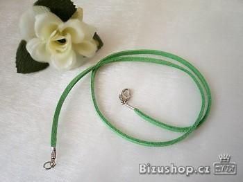 Šňůrka kůže zelená 20010