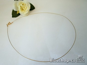 Ocelové lanko zlaté 20071 , cena uvedena za 10 kusů