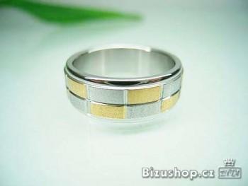 Chirurgická ocel snubní prsten Ambra 8 mm