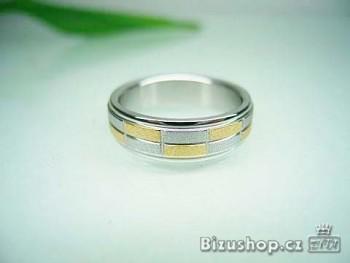 Chirurgická ocel Snubní prsten Ambra 6 mm