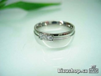 Snubní prsten z chirurgické oceli Bella 7 mm 15814210