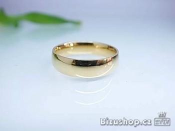 Chirurgická ocel zlatý snubní prsten Cecile