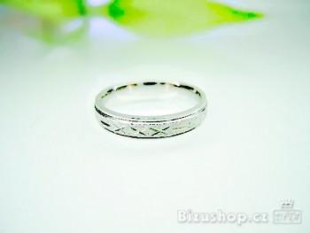 Chirurgická ocel Snubní prsten 4 mm 15816