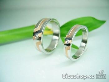 Chirurgická ocel snubní prsten Ginger 4 mm
