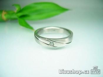 Chirurgická ocel snubní prsten Horizont