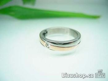 Chirurgická ocel, prsten se zirkonem, 4 mm