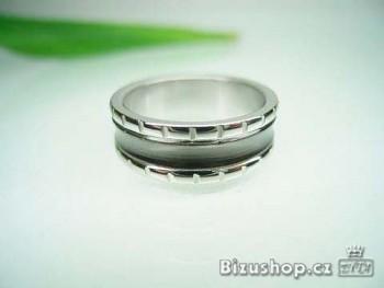 Ocelový prsten šedý 7 mm