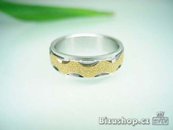 Chirurgická ocel prsten Krystal 6 mm