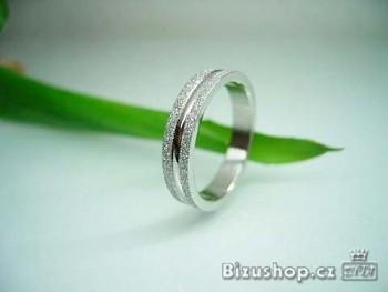 Chirurgická ocel prsten gravírovaný 6 mm