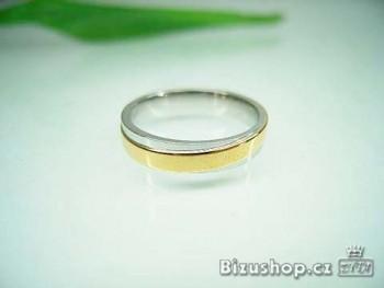 Chirurgická ocel prsten Onyx 4 mm