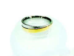 Chirurgická ocel prsten Onyx 6 mm