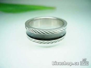 Prsten ocelový černý 7 mm 16182