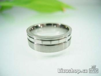 Snubní prsten z oceli Royal 7 mm