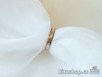 Chirurgická ocel Snubní prsten Twist 4 mm