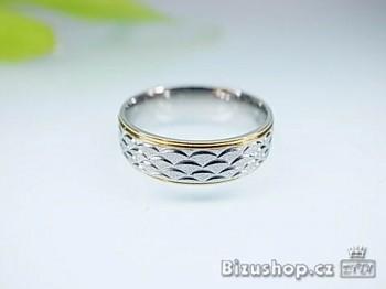 Snubní prsten ocelový 6 mm 16688
