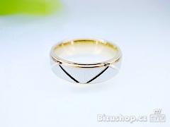 Chirurgická ocel snubní prsten Venus 6 mm