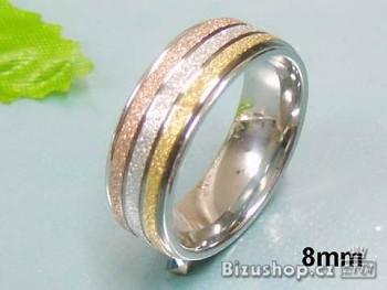 Chirurgická ocel snubní prsten 8 mm