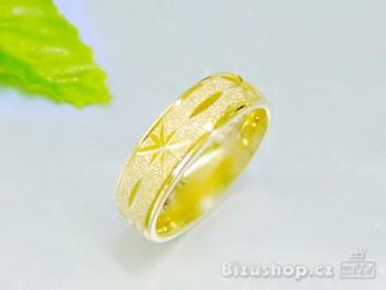 Chirurgická ocel snubní prsten Gold