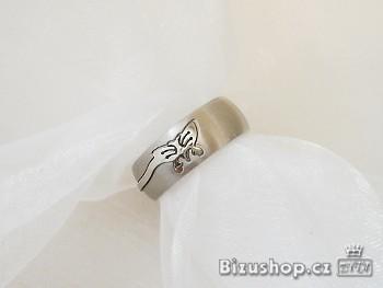 Ocelový prstýnek Motýl 15101