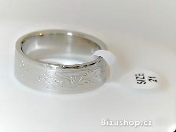 Chirurgická ocel prsten Drak 1502618