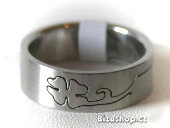 Chirurgická ocel prsten Čtyřlístek 1510618