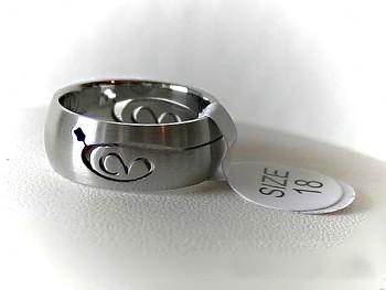 Chirurgická ocel prsten Srdíčko 15156