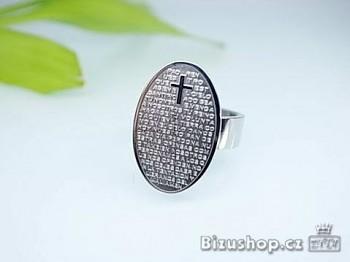 Prsten s modlitbou z oceli 16938