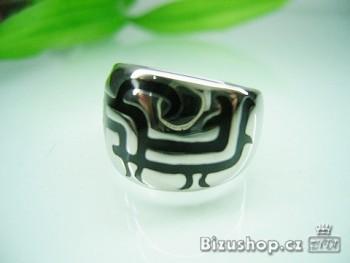 Chirurgická ocel prsten černý 16795