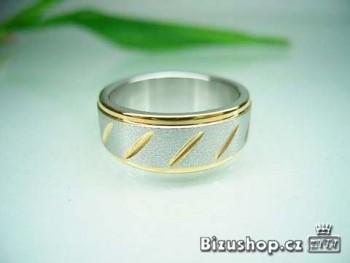 Chirurgická ocel prsten rýhovaný