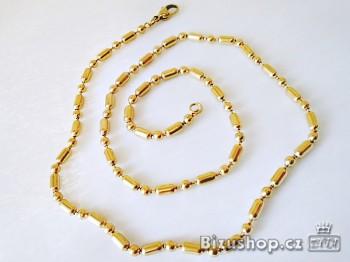Zlatý řetízek z chirurgické oceli 177280