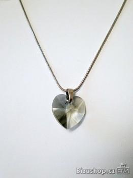 Řetízekchirurgivká ocel  s přívěskem Srdce Swarovski Elements  17984
