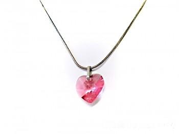 Náhrdelník chirurgická ocel s přívěskem srdce  17982
