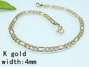 Náramek chirurgická ocel zlatá Unisex 18065
