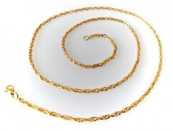 Řetízek ocelový zlatý Unisex 75 cm 17938