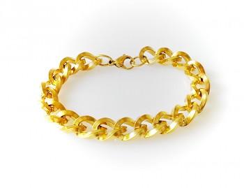 Náramek ocelový zlatý Unisex 17577 A